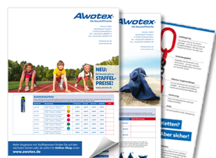 aktionsflyer für awotex