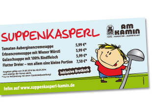 Am Kamin - Aktion 'Suppenkasperl'